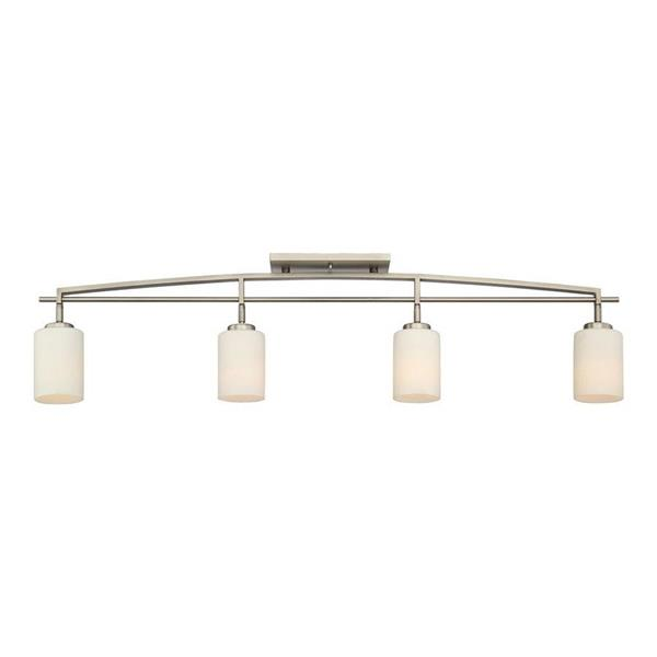 Quoizel Pacifica 44-in Anitqur Nickel 4-Light Dimmable Track Bar Fixed Track Light Kit