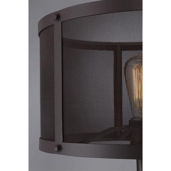 Quoizel Union Station 26.5-in Western Bronze 2-Light Table Lamp with Metal Shade