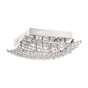 Quoizel Valla 9-Light Polished Chrome 18-in x 18-in x 7-in Semi-Flush Mount