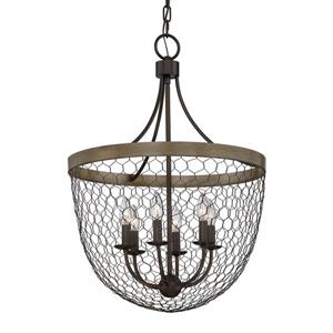 Quoizel Willowstone Dusk Bronze Transitional Drum Pendant