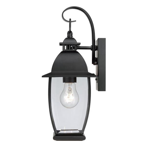Quoizel Bain 15-in Mystic Black Medium Base Outdoor Wall Light
