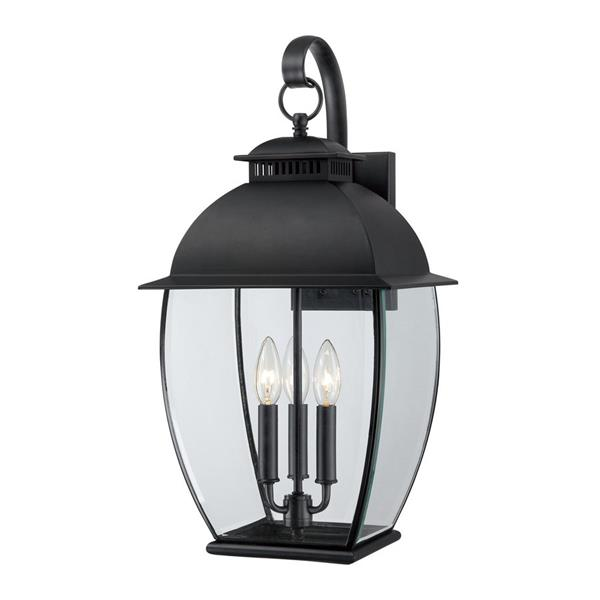 Quoizel Bain 22-in Mystic Black Candelabra Base Outdoor Wall Light