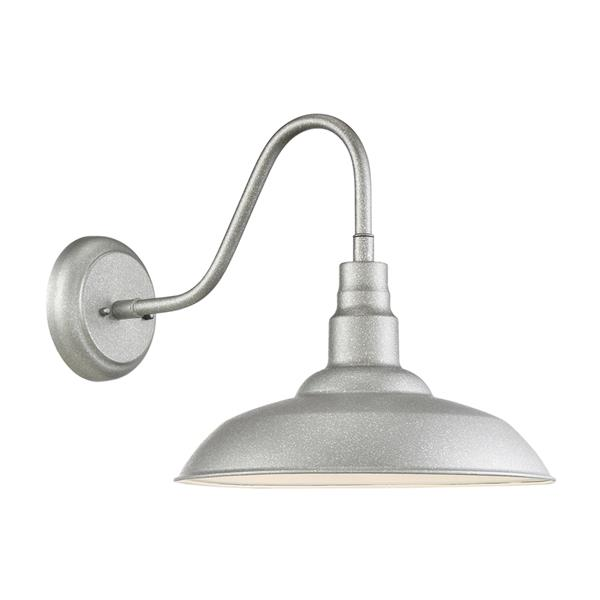 Quoizel Beachside 14.25-in Galvanized LED Outdoor Wall Light