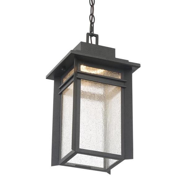 Quoizel Beacon 9-in Stone Black Transitional Lantern LED Pendant Lighting