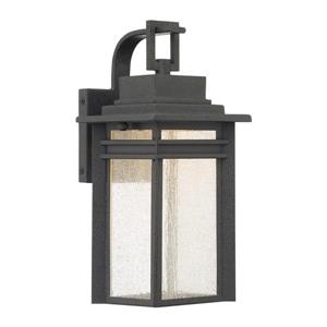 Quoizel Beacon 12.75-in Stone Black LED Outdoor Wall Light