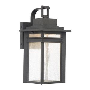 Quoizel Beacon 14.75-in Stone Black LED Outdoor Wall Light