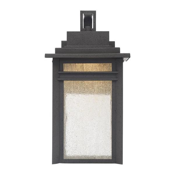 Quoizel Beacon 16.75-in Stone Black LED Outdoor Wall Light