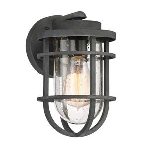 Quoizel Boardwalk 9.75-in Mottled Black Medium Base Outdoor Wall Light