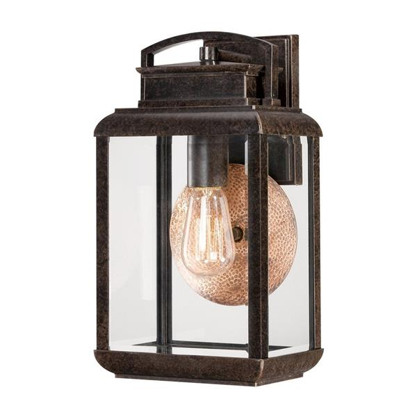 Quoizel Byron 14.5-in Imperial Bronze Medium Base Outdoor Wall Lantern