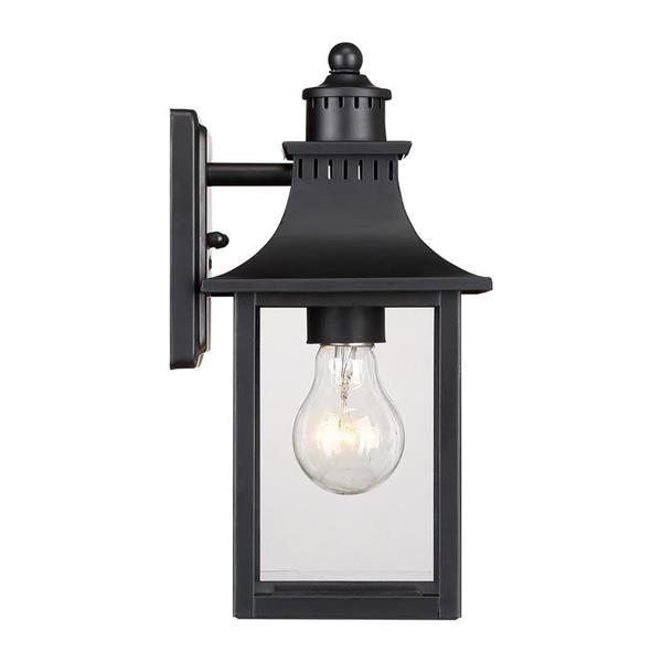 Quoizel Chancellor 11.25-in Mystic Black Medium Base Outdoor Wall Light