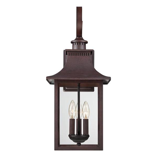 Quoizel Chancellor 23.5-in Copper Bronze Candelabra Base 3-Light Outdoor Wall Sconce