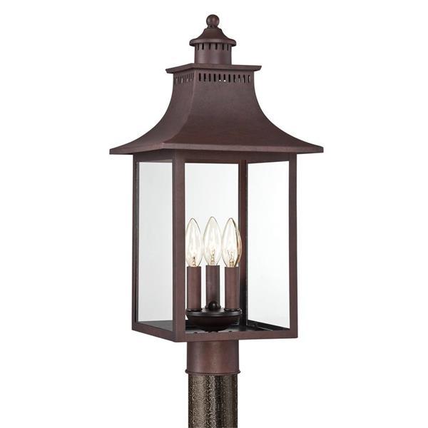 Quoizel Chancellor 22-in Copper Bronze Post Light