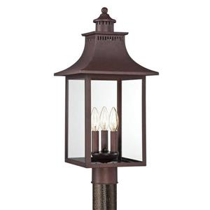 Quoizel Chancellor 22-in Copper Bronze Post Light