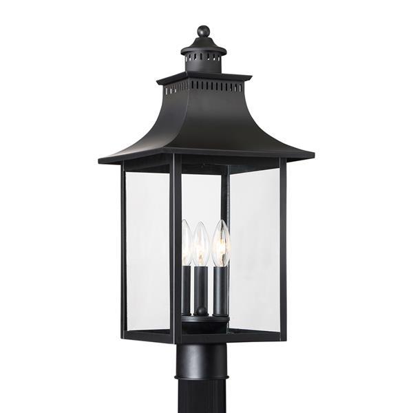 Quoizel Chancellor 22-in Mystic Black Post Light