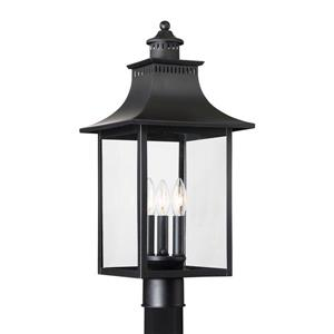 Quoizel Chancellor 22-in Mystic Black Post Light