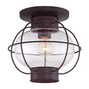 Quoizel Cooper 11-in Copper Bronze 1-Light Outdoor Flush Mount Light