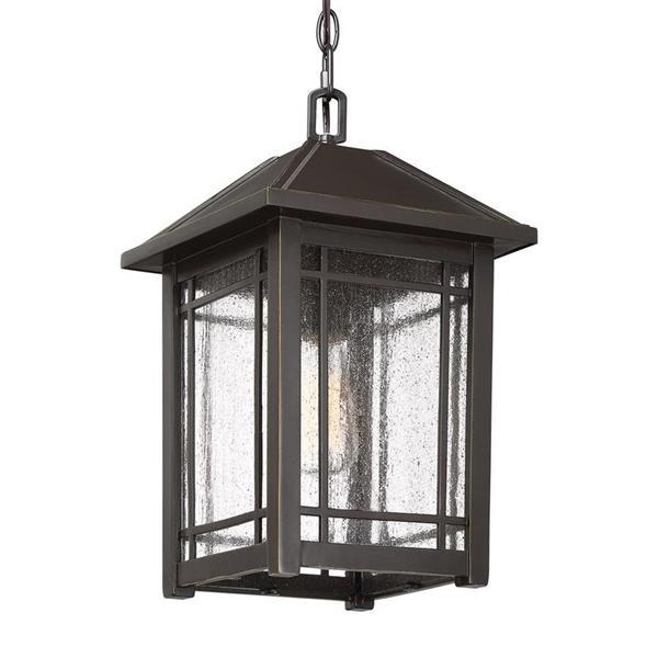 Quoizel Cedar Point 9.75-in Palladian Bronze Traditional Lantern Pendant Lighting