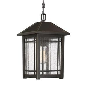 Quoizel Cedar Point 9.75-in Palladian Bronze Traditional Lantern Pendant Lighting