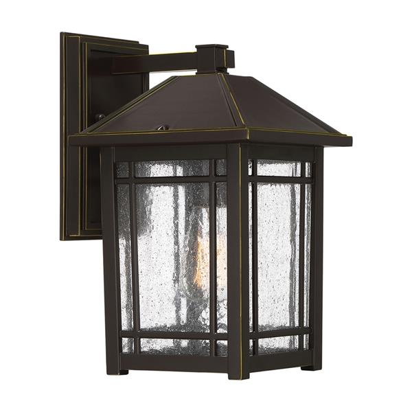 Quoizel Cedar Point 13-in Palladian Bronze Medium Base Outdoor Wall Light