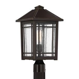 Quoizel Cedar Point 18-in Palladian Bronze Post Light