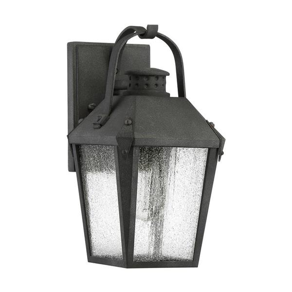 Quoizel Carriage 11.5-in Mottled Black Medium Base Outdoor Wall Light