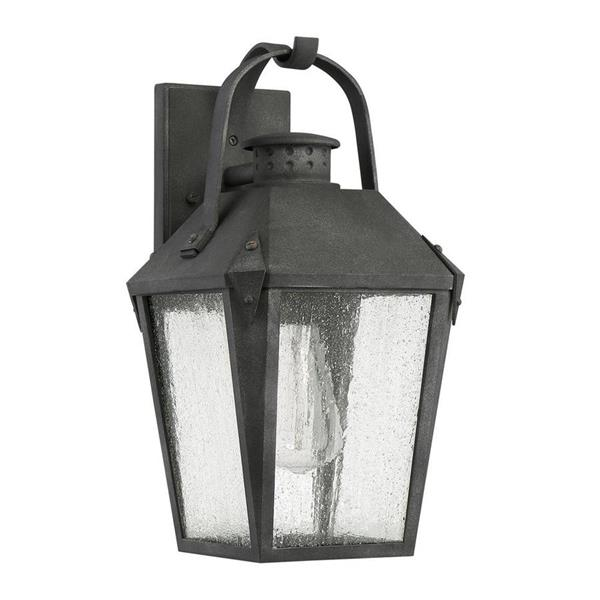 Quoizel Carriage 15-in Mottled Black Medium Base Outdoor Wall Light