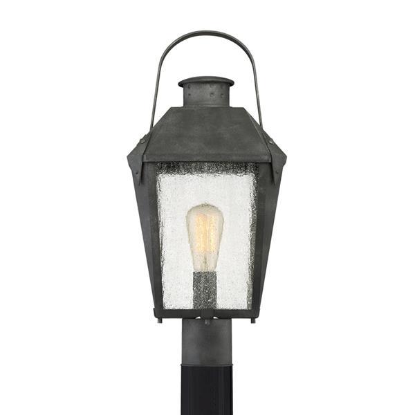 Quoizel Carriage 21-in Mottled Black Post Light
