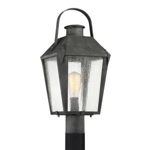 Quoizel Carriage 21-in Mottled Black Post Light