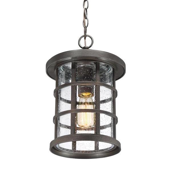 Quoizel Crusade 10-in Palladian Bronze Transitional Lantern Pendant Lighting