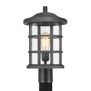 Quoizel Crusade 17-in Earth Black Post Light