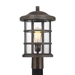 Quoizel Crusade 17-in Palladian Bronze Post Light