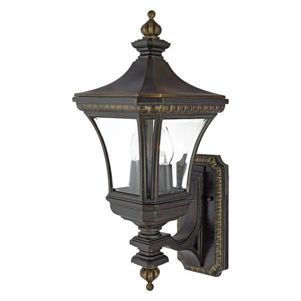 Quoizel Devon 21-in Imperial Bronze Candelabra Base 2-Light Upright Outdoor Wall Sconce