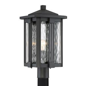 Quoizel Everglade 20-in Earth Black Post Light