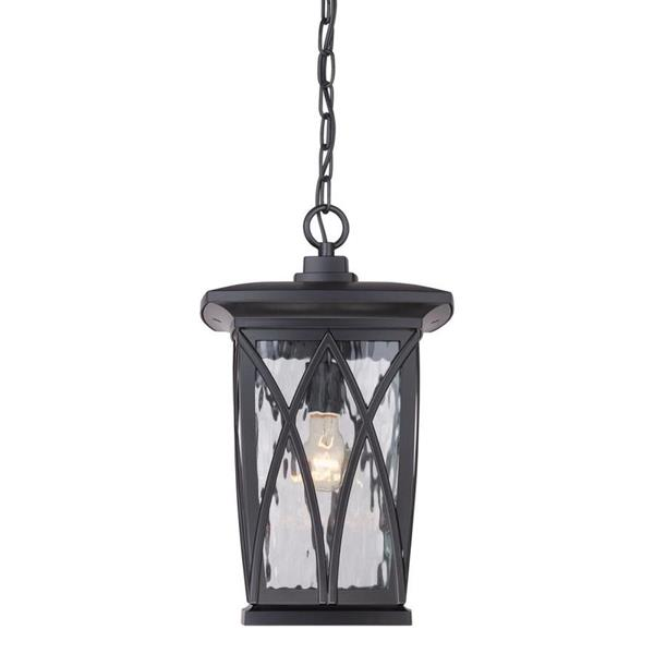 Quoizel Grover 10.5-in Mystic Black Traditional Lantern Pendant Lighting