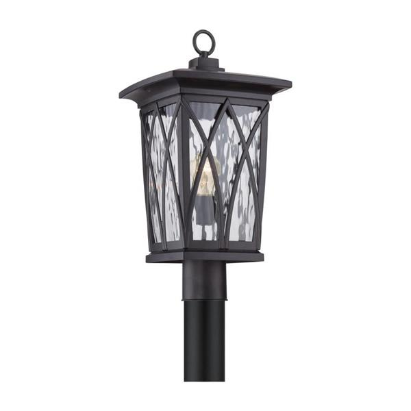 Quoizel Grover 20-in Mystic Black Post Light