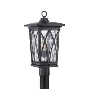 Quoizel Grover 20-in Mystic Black Post Light