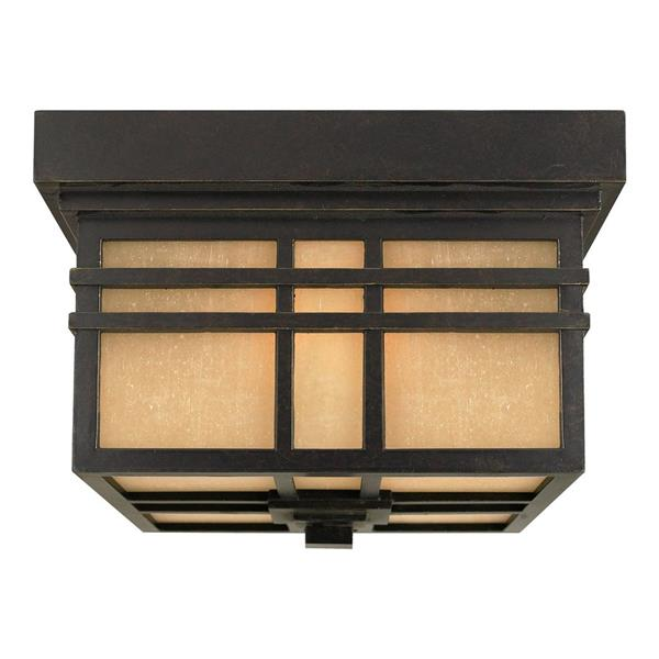 Quoizel Hillcrest 11-in Imperial Bronze 2-Light Outdoor Flush Mount Light