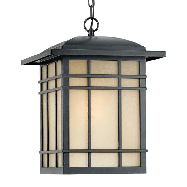 Quoizel Hillcrest 13-in Imperial Bronze Mission Style Lantern Pendant Lighting