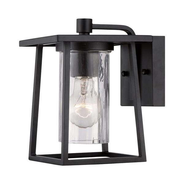 Quoizel Lodge 9-in Mystic Black Medium Base Outdoor Wall Light