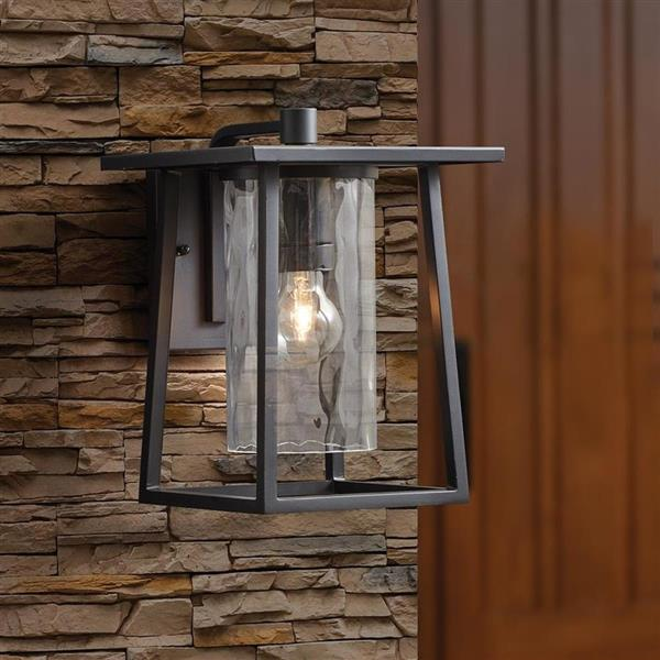 Quoizel Lighthouse 12.5-in Mystic Black Medium Base Outdoor Wall Light