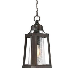 Quoizel Lighthouse Palladian Bronze Traditional Seeded Glass Lantern Pendant