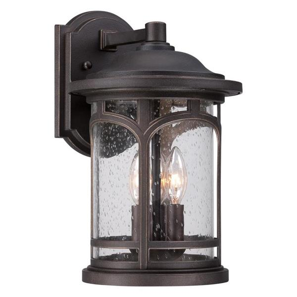 Quoizel Marblehead 14.5-in Palladian Bronze Candelabra Base 3-Light Outdoor Wall Light