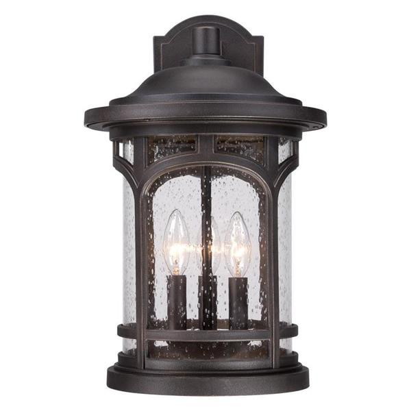 Quoizel Marblehead 17.5-in Palladian Bronze Candelabra Base 3-Light Outdoor Wall Light