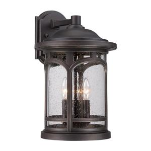 Quoizel Marblehead 17.5-in Palladian Bronze Candelabra Base 3-Light Outdoor Wall Light