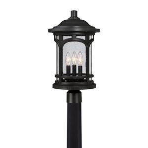 Quoizel 3-Light Marblehead 19-in Mystic Black Post Light