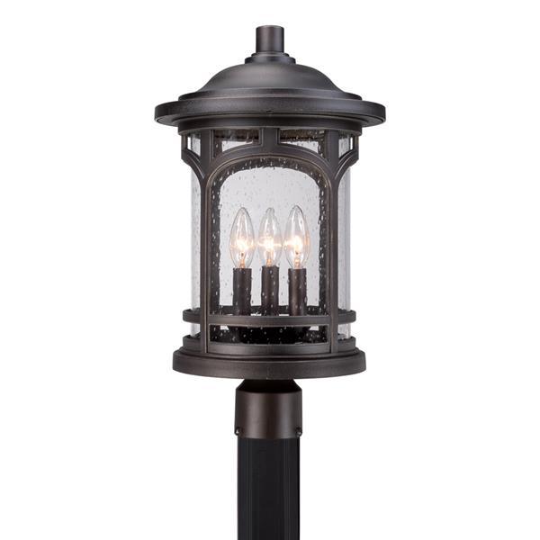 Quoizel 3-Light Marblehead 19-in Mystic Bronze Post Light