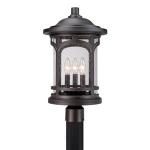 Quoizel 3-Light Marblehead 19-in Mystic Bronze Post Light