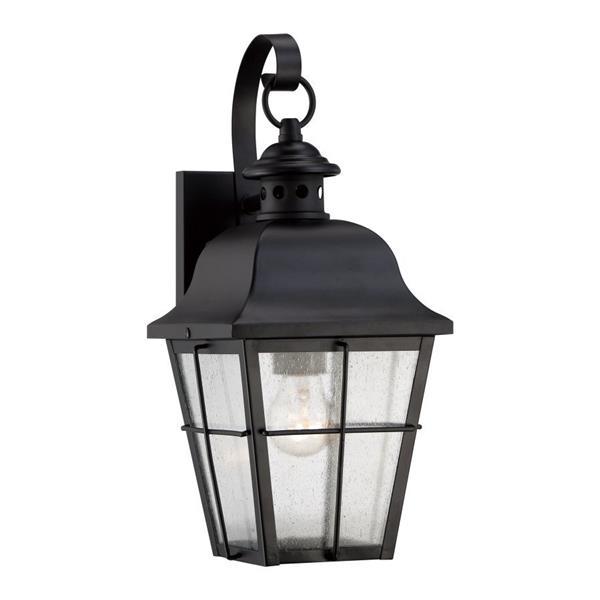 Quoizel Millhouse 15.5-in Mystic Black Medium Base Outdoor Wall Light