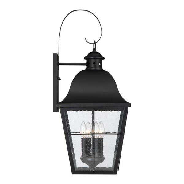 Quoizel Millhouse 27.25-in Mystic Black Candelabra Base 4-Light Outdoor Wall Light
