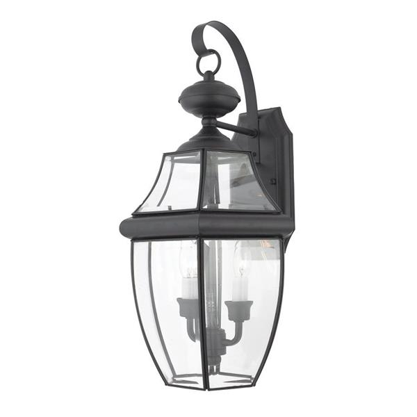 Quoizel Newbury 20-in Mystic Black 2-Light Outdoor Wall Light